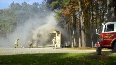 Garage Fire in Deltaville