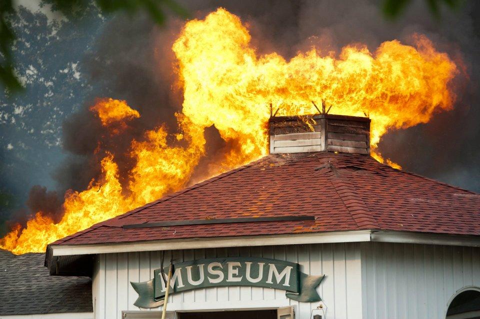 Deltaville Maritime Museum Fire